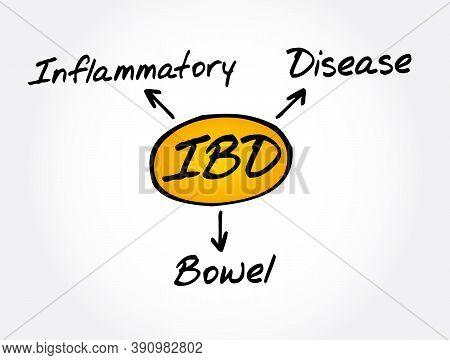 Ibd - Inflammatory Bowel Disease Acronym, Medical Concept Background