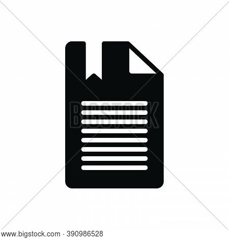 Black Solid Icon For Chapter Section Division Part Portion Episode Phase Topic Book Education