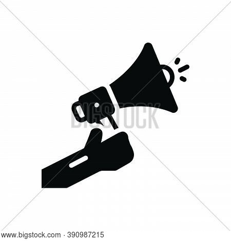 Black Solid Icon For Inform Enlighten Notify Apprise Acquaint Bullhorn Megaphone Sound
