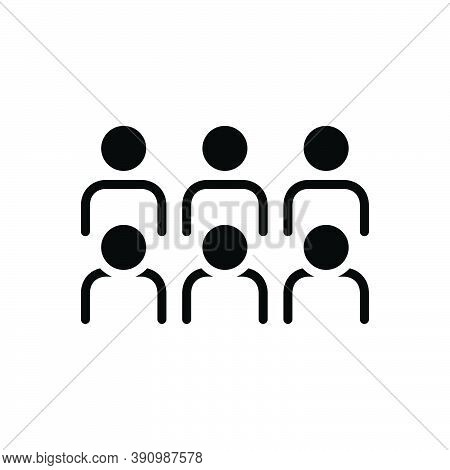 Black Solid Icon For Others People Group Crowd Multitude Horde