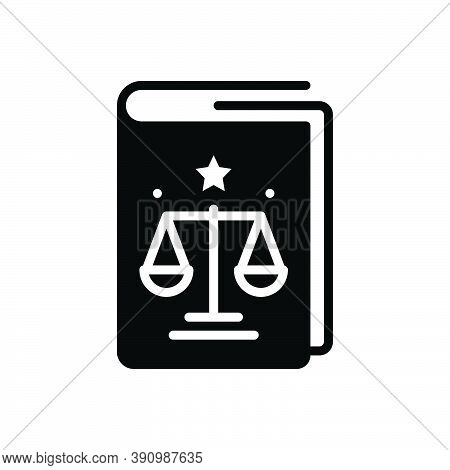 Black Solid Icon For Regulation Law Precept Governance Compliance Book