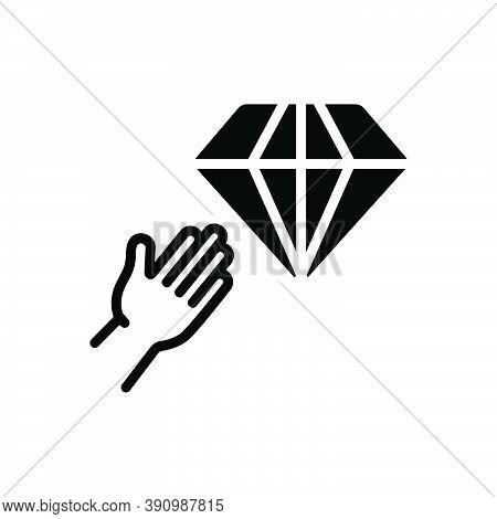 Black Solid Icon For Desire Incline Volition Ambition Wish Want