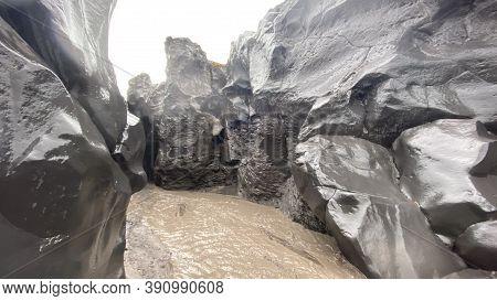 Rocky Canyon In Central Kamchatka. Amazing Nature Of Kamchatka. Travel To The Kamchatka Peninsula.