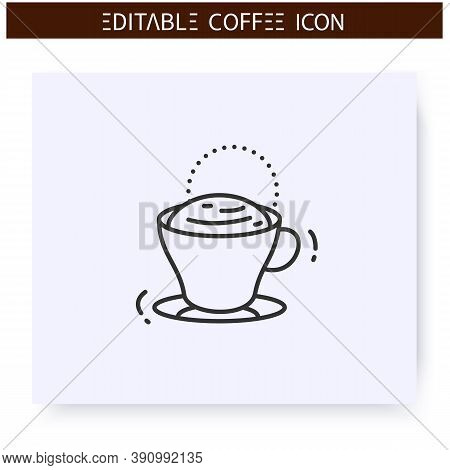 Shiumatto Coffee Line Icon.type Of Coffee Drink.espresso With A Bit Of Milk Foam On Top Of It.coffee