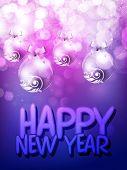 Happy New Year celebration background. EPS 10. poster