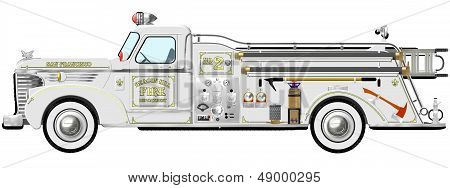 Vintage Fire Engine Pumper