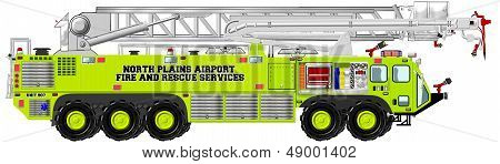 Airport Rescue and Firefighting Unit with Aerial Ladder Piercing Boom