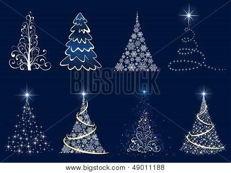 Set of Christmas tree