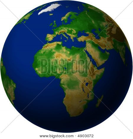 Globe With Africa View