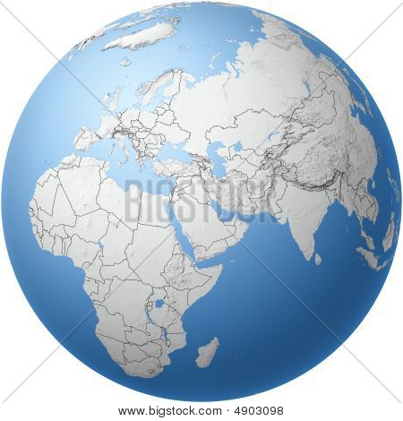 Globe With Middle East View
