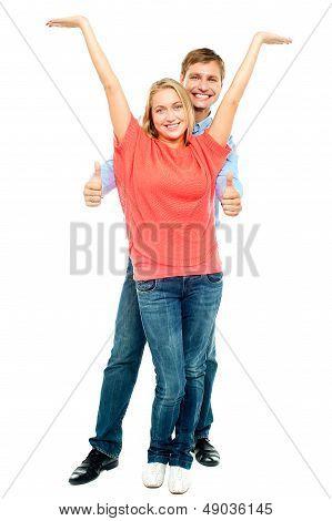 Playful Couple Goofing Around