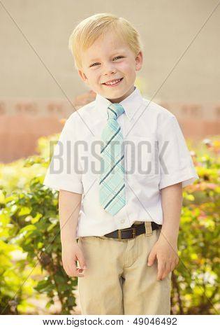 Handsome young Boy Portrait outdoors poster