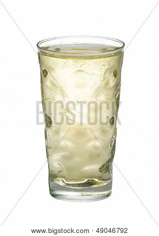 a Riesling spritzer on a white background