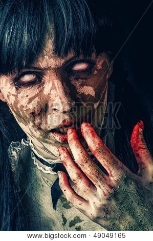 Scary Zombie Woman