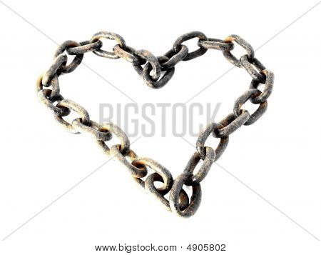 Heart Shaped Rusty Metal Chain