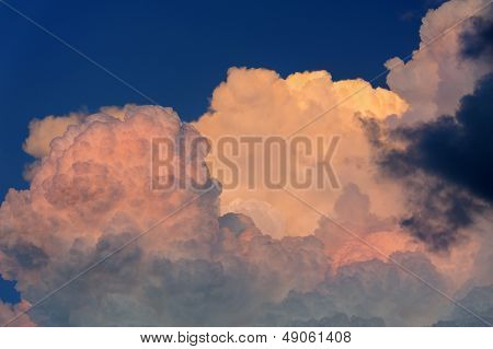Pink Sunset Storm Clouds