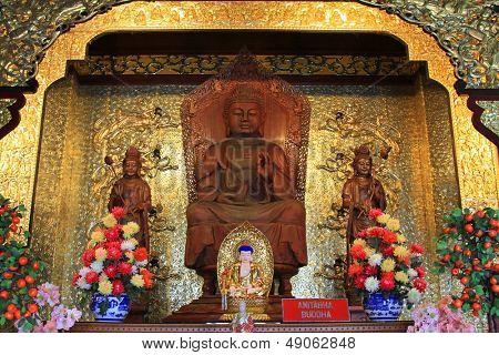One of the Buddhas, Amitabha Buddha at the Buddhist Temple of Supreme Bliss : Kek Lok Si, Penang, Malaysia