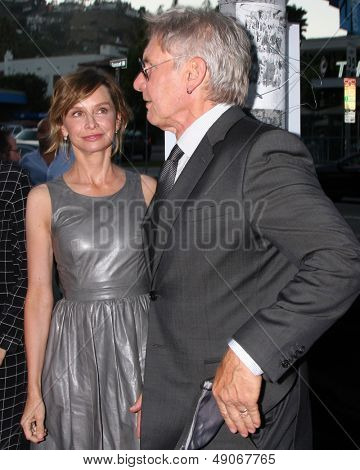 LOS ANGELES - AUG 8:  Calista Flockhart, Harrison Ford arrives at the