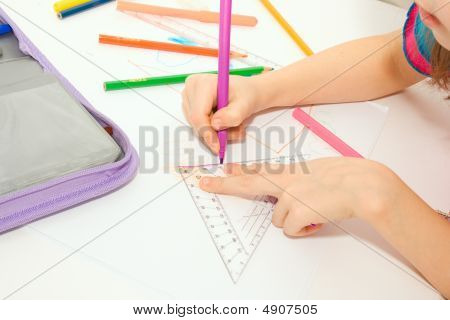 The Young Girl Draws