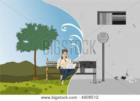 Laptop Daydream