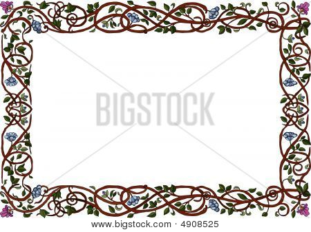 Intertwined Branches Frame