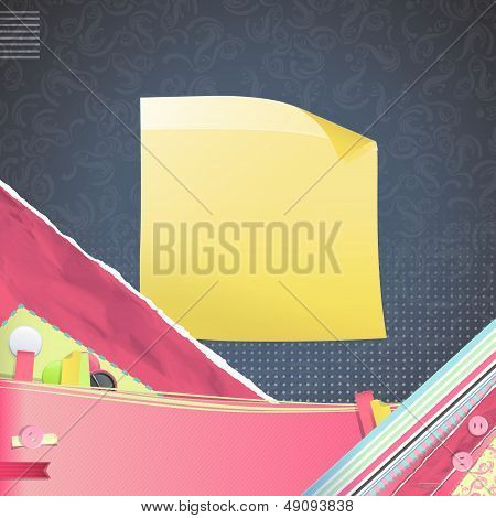 Nice Design With Yellow Posit. Vector Design