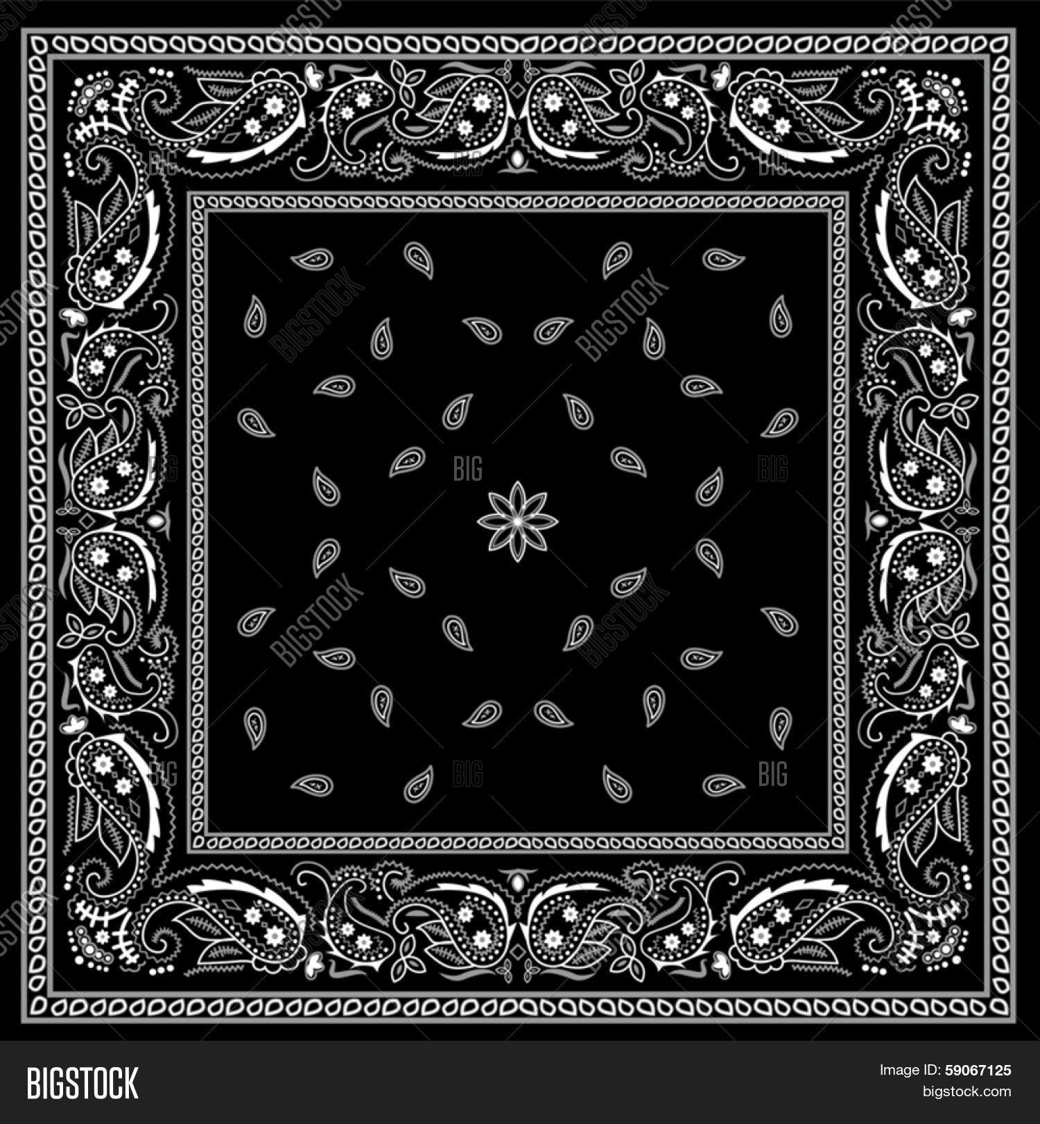 Black Bandana Pattern Vector & Photo (Free Trial) | Bigstock
