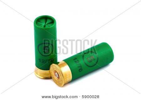 Two Hunting Cartridges For Shotgun 12 Caliber