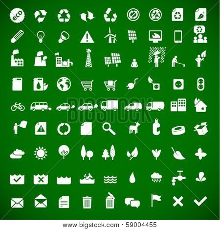 ecology & green energy icons set 81 - sustainable development concept