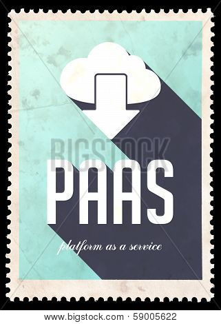 PAAS Concept on Blue Color in Flat Design.