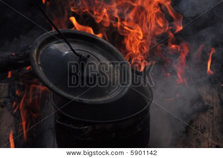 Fireplace And Pot