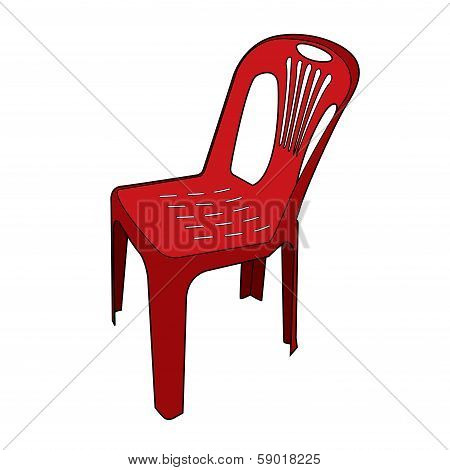 Plastic Chair Vector.eps
