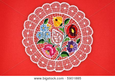 Hungarian circle embroidery