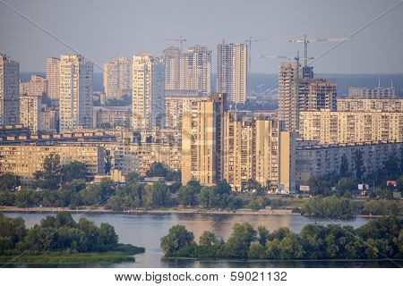 New residencial district in Kyiv city.