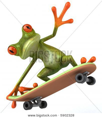 Fun green frog