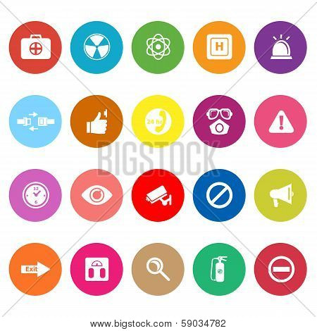 General Healthcare Flat Icons On White Background