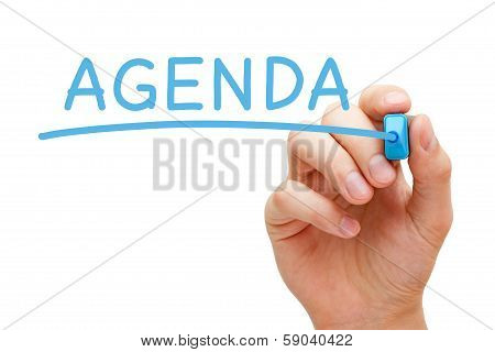 Agenda Blue Marker