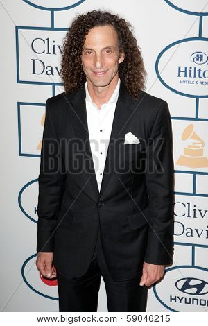 BEVERLY HILLS, CA. - JANUARY 25: Kenny G arrives at the Clive Davis and The Recording Academy annual Pre-GRAMMY Gala on January 25th 2014 at the Beverly Hilton in Beverly Hills, California.