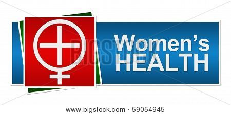 Womens Health Red Green Blue Banner