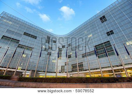 European comission building in Brussels, Belgium