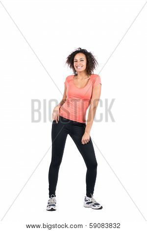 Young Sportswoman Doing