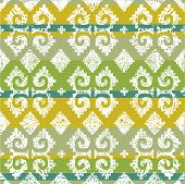 """Vector grunge Mexican seamless pattern  (from my big seamless """"Mexican collection"""") poster"""