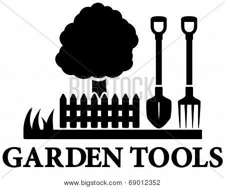 black garden landscaping icon