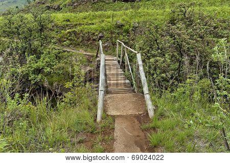 Small bridge of Bushmans river in Giants Castle