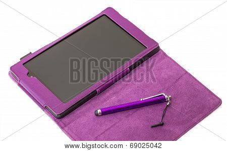 Tablet Pc With Opened Cover