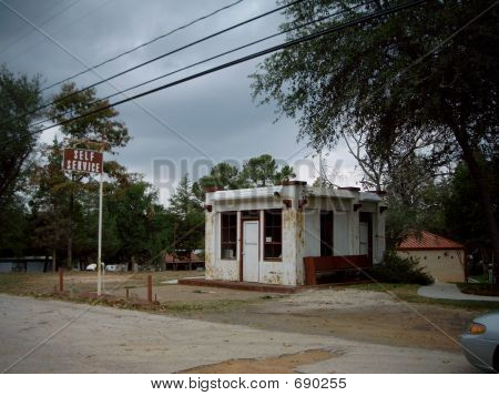 Abandoned Service Station Building In Gaston