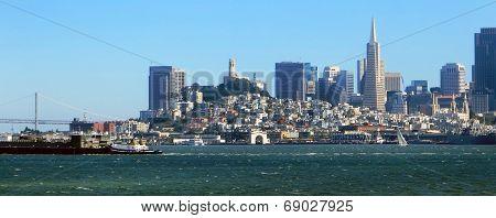 San Francisco City Skyline from the Bay