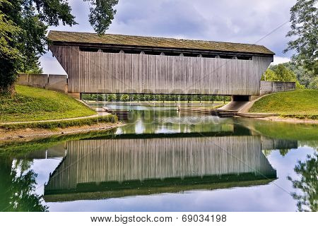 Brownsville Covered Bridge Reflection