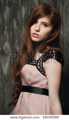 Sensual Beautiful Redheaded Girl