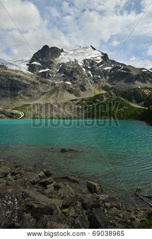 Upper Joffre Lake With Matier Glacier